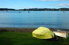Barca alla spiaggia Fotografia Stock Libera da Diritti