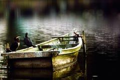 Barca allo stagno Fotografia Stock Libera da Diritti