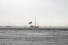 Barca americana Fotografie Stock Libere da Diritti