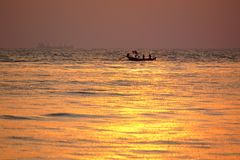 Barca & mare Immagini Stock Libere da Diritti