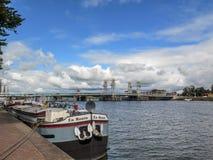 Barca ancorada Fotografia de Stock
