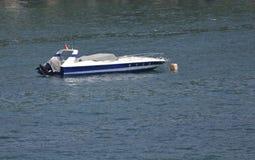 Barca ancorata di velocità Fotografia Stock Libera da Diritti