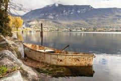 Barca arrugginita Fotografia Stock