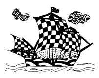 Barca astratta illustrazione vettoriale