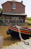 Barca attraccata Fotografie Stock Libere da Diritti