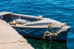 Barca attraccata Immagine Stock Libera da Diritti