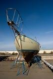 Barca, bacino di carenaggio Fotografia Stock