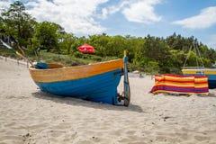 Barca baltica della sabbia di mare Immagine Stock