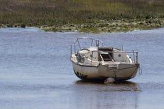 Barca a bassa marea Immagini Stock Libere da Diritti