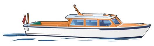 Barca bianca illustrazione vettoriale