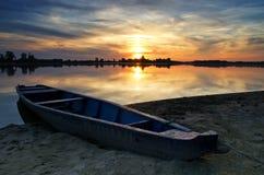 Barca blu Immagini Stock