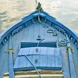 Barca blu Immagine Stock
