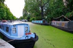 Barca blu a poca Venezia Londra Immagine Stock Libera da Diritti