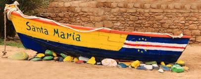 Barca Capo Verde del naufragio Fotografia Stock