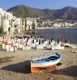 Barca in cefalu Fotografia Stock
