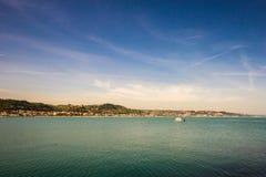 Barca che lascia i bacini Immagine Stock Libera da Diritti