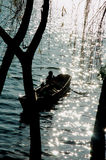 Barca in Cina Fotografia Stock Libera da Diritti