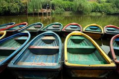 Barca in Cina immagine stock