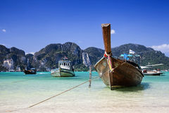 Barca a coda lunga Fotografie Stock
