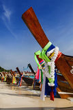 Barca a coda lunga Immagini Stock