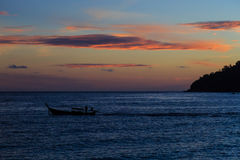 Barca a coda lunga di nuovo a casa Immagine Stock Libera da Diritti