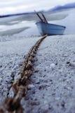 Barca con la corda immagini stock libere da diritti