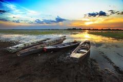 Barca con un bello cielo Fotografie Stock Libere da Diritti