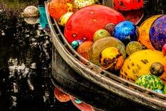Barca con vetro Fotografia Stock
