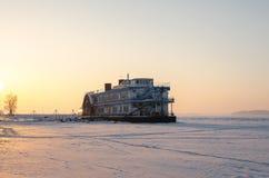 Barca congelata 1 Immagini Stock Libere da Diritti