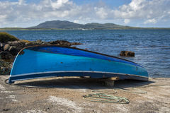 Barca in Connemara Fotografia Stock Libera da Diritti