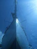 Barca da underwater fotografie stock