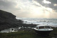 Barca dal mare Fotografie Stock