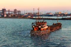 Barca de flutuação Foto de Stock