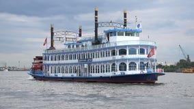 Barca de la estrella de Luisiana almacen de metraje de vídeo