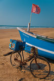 Barca degli uomini di Fisher Immagini Stock