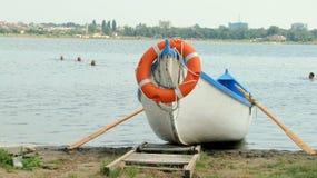 Barca del bagnino Immagine Stock