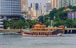 Barca del cinese tradizionale Fotografie Stock Libere da Diritti