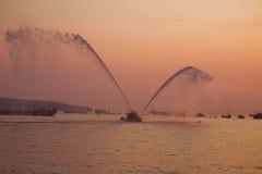 Barca del corpo dei vigili del fuoco su esposizione, baia inglese, Immagini Stock Libere da Diritti
