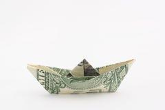 Barca del dollaro fotografia stock libera da diritti