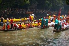 Barca del drago a Guangzhou Fotografie Stock Libere da Diritti