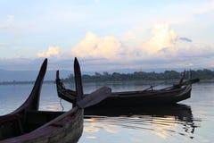 Barca del lago Immagini Stock