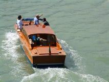 Barca del lancio del tassì Fotografia Stock Libera da Diritti