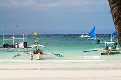 Barca del locale di Filippine Fotografie Stock