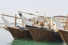 Barca del paesaggio del Bahrain Fotografia Stock Libera da Diritti