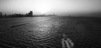 Barca del paesaggio del Bahrain immagini stock libere da diritti