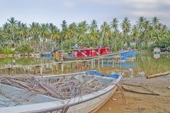 Barca del pescatore a Kuala Besar Jetty, Kota Bharu, Kelantan Immagini Stock Libere da Diritti