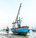 Barca del pescatore nel mare Immagine Stock Libera da Diritti