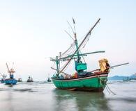 Barca del pescatore nel mare Fotografia Stock Libera da Diritti
