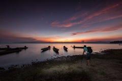 Barca del pescatore, Tailandia Immagini Stock