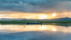Barca del pescatore, Tailandia Fotografia Stock